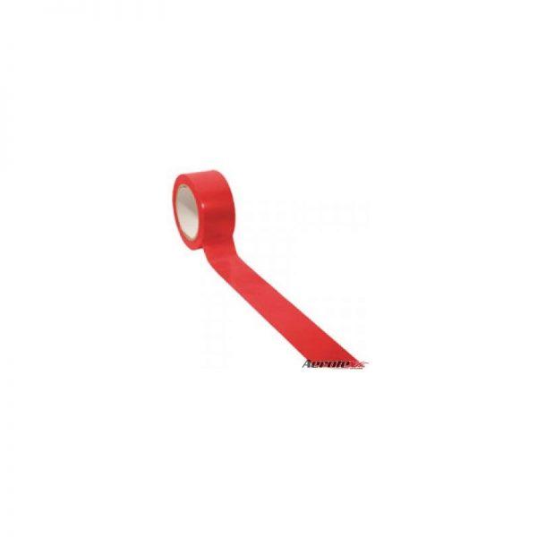 Fita de Demarcação Auto-Adesiva - ''Rolo Fechado'' 5 cm x 30 metros - Vermelha - ES076