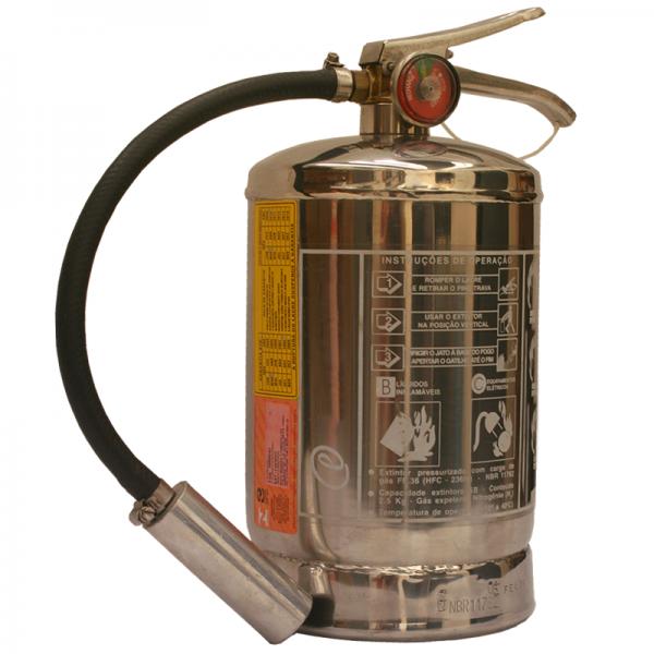 Base de Troca Extintor Gás FE-36 Ressonância Magnética 2,5Kg 5 BC Aço Inox - BN017