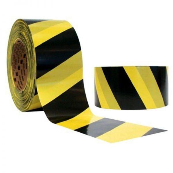 Fita Zebrada (Preta e Amarela/Laranja e Branca/Vermelha e Branca) - Rolo 6,5 cm x 160 metros - ES015