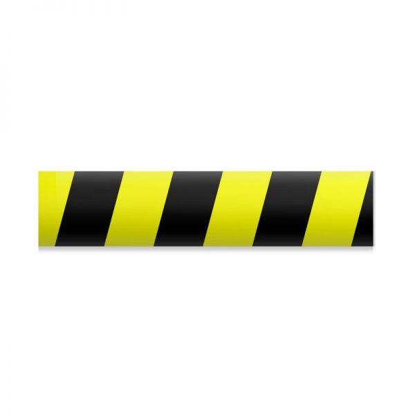 Faixa Zebrada PVC Preta e Amarela p/ Demarcação de Solo - Refletiva - ES128