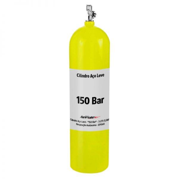 """Recarga Cilindro Aço Carbono """"150 Bar"""" - Ar Respirável - 3 Litros - 10079"""