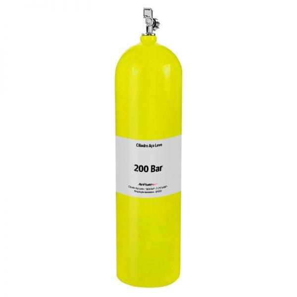 """Recarga Cilindro Aço Carbono """"200 Bar"""" - Ar Respirável - 7 Litros - 10082"""