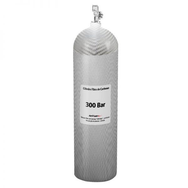 """Recarga Cilindro Fibra de Carbono """"300 Bar"""" - Ar Respirável - 6,8 Litros - 10088"""