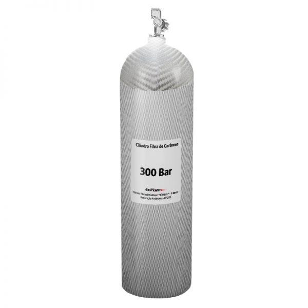 """Recarga Cilindro Fibra de Carbono """"300 Bar"""" - Ar Respirável - 9 Litros - 10089"""