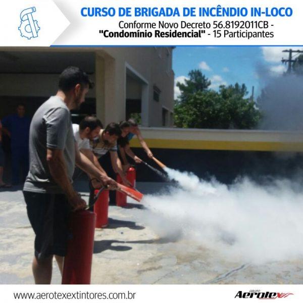 Curso Brigada de Incêndio In-Loco Conforme Novo Decreto 56.8192011CB -''Condomínios Residencial'' - 15 Participantes - 60092