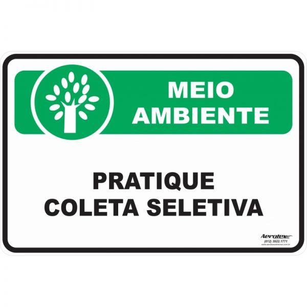 Placa Impressão Digital - Pratique a Coleta Seletiva - PS191