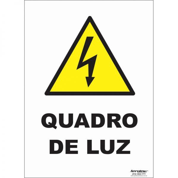 Placa Impressão Digital - Pictograma Quadro de Luz 14cm x 19cm - PS289