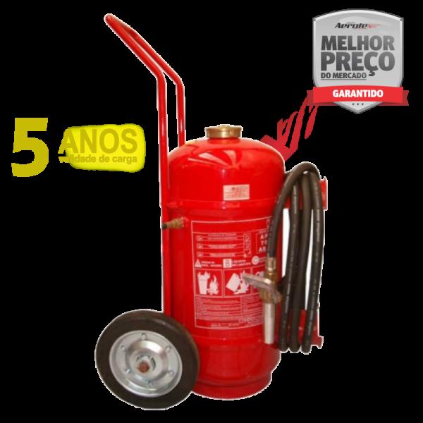 Extintor Pó Sobre Rodas - ABC - 30A-160BC - 55 KG - (Garantia 05 anos) Uso Comercial - Industrial - EN043