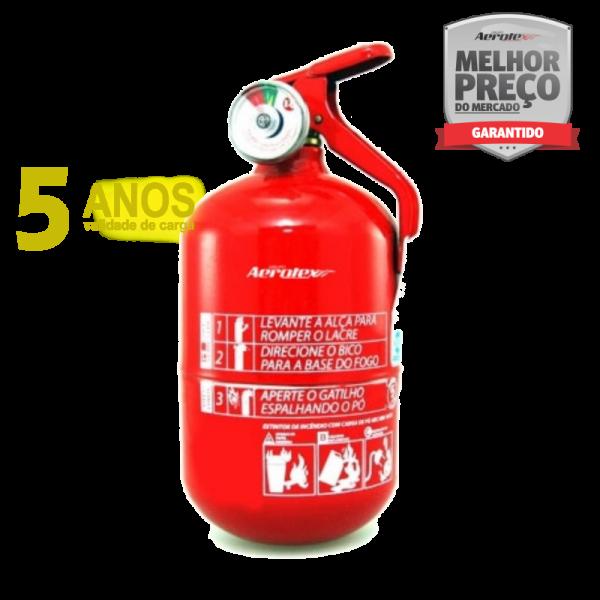 Extintor Pó - ABC - Veicular, Marítimo e Residencial - 1A-5BC - EN036 - 1Kg