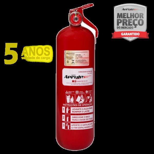 Extintor ABC Pó - Veicular/Maritímo - 2A-10BC - 2Kg - (Garantia 05 anos) - Linha Kombi - Furgão - Caminhão - EN038