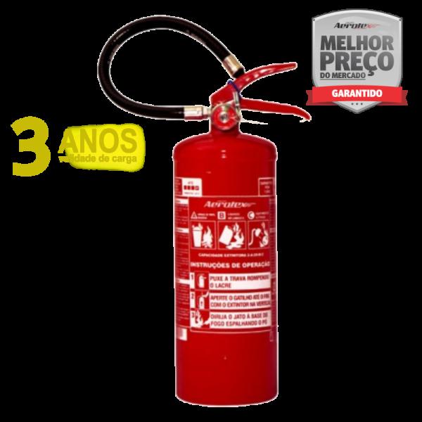 Extintor Pó ABC - PORTÁTIL - 2A-20BC - 4Kg - uso Veicular e Marítimo - Kombi - Furgão - Caminhão - EN013