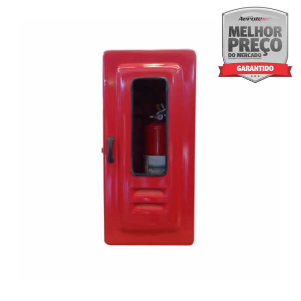 Abrigo para Extintor Interno Externo - FIBRA - (A)85 x (L)38 x (P)30 cm - Comporta 1 extintor AP/CO2/PQS 12 Kg - MH060