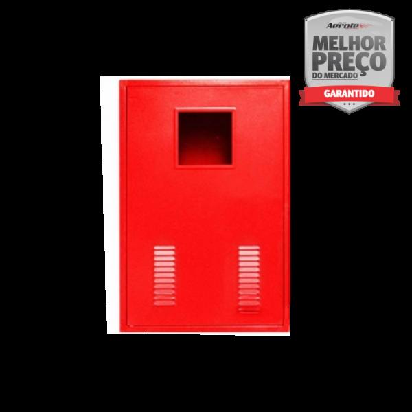 """Abrigo para Mangueira Externo Sobrepor 90cm x 60cm x 30cm - 2x30m ou 4x15m 1.1/2"""" Visor Vazado - MH258"""