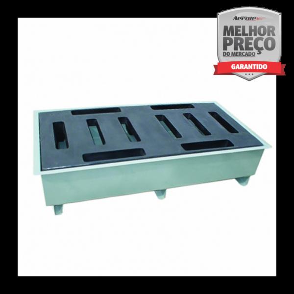 Pallet de Contenção p 2 Tambores - Baixo Perfil - Aço Carbono - MH468