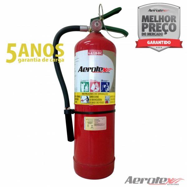 Extintor Pó Portátil - ABC - 6A-120BC - 9 KG - (Garantia 05 anos) Uso Comercial - Industrial - EN033