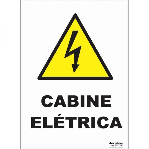 Placa Impressão Digital - Pictograma Cabine Elétrica 14cm x 19cm - PS063