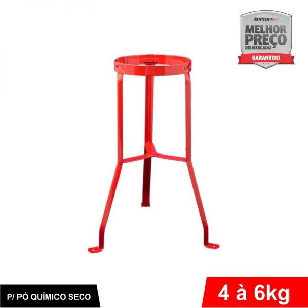 Suporte de Extintor Tripé Vermelho - 4 / 6 KG PQS - CS200