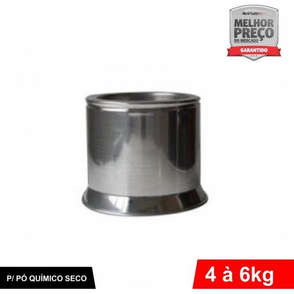 Suporte de Extintor - Alumínio Escovado - PQS de 4 a 6 KG - CS032