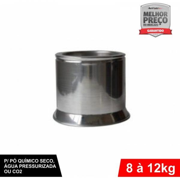 Suporte de Extintor - Alumínio Escovado - AP / CO2 / PQS 8 a 12kg - CS030