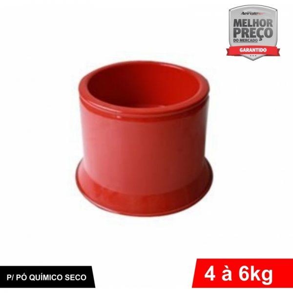 Suporte de Extintor - Alumínio Vermelho - PQS 4 a 6 kg - CS033