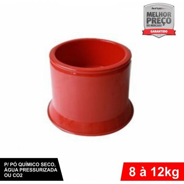 Suporte de Extintor - Alumínio Vermelho - AP / CO2 / PQS 8 a 12 Kg - CS034