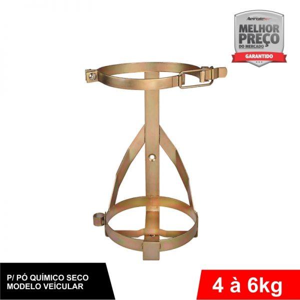 Suporte de Extintor Veicular - Bicromatizado - PQS 4/6 KG - CS042