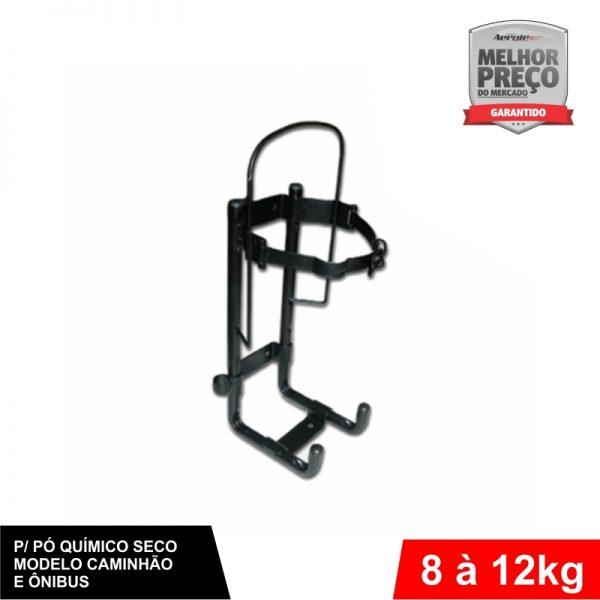 Suporte de Extintor Veicular Preto - Caminhão/Ônibus/Carreta - PQS 8/12 KG - CS019