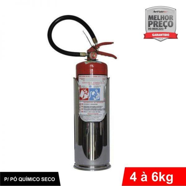 """Suporte de Extintor - Aço Inox - Modelo """"Batom"""" - PQS 04 a 06KG - CS182"""