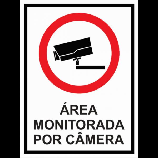 Placa Área Monitorada por Câmeras