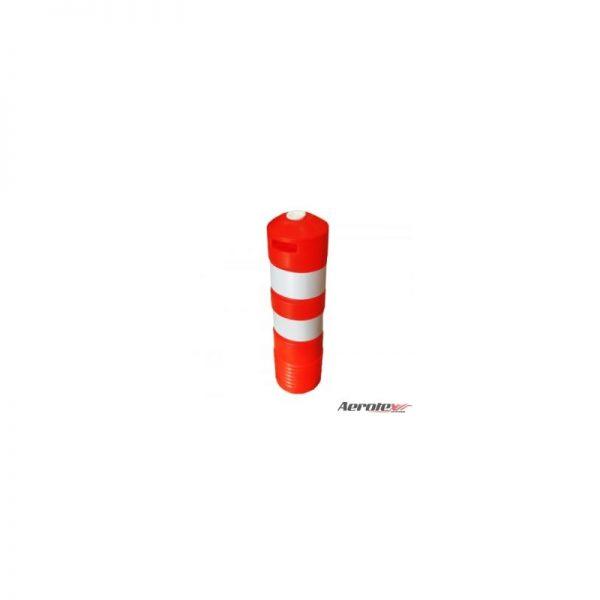 Conão Delimitador Sanfonado para Sinalização - Laranja ou Preto - Com Fita Refletiva - 77cm - ES042