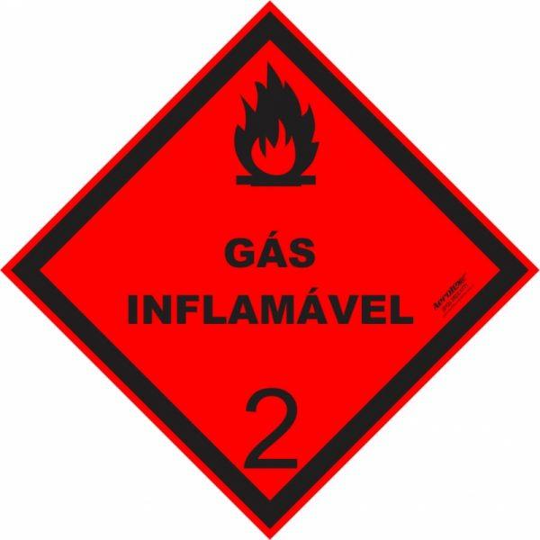Placa Impressão Digital - Produto Perigoso - Gás Inflamável - 30x30 CM - PS341