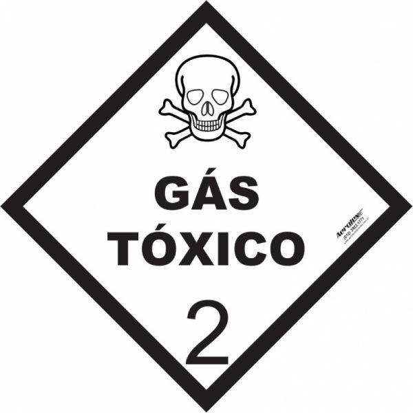 Placa Impressão Digital - Produto Perigoso - Gás Tóxico - 30 x 30 CM - PS342