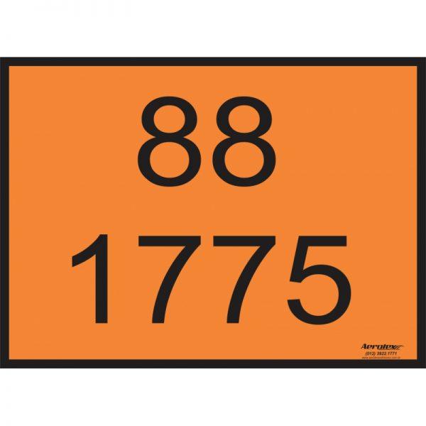 Placa Impressão Digital - Produto Perigoso - Algarismo de Segurança - Escolha os Algarismos - 30 x 40 CM - PS346