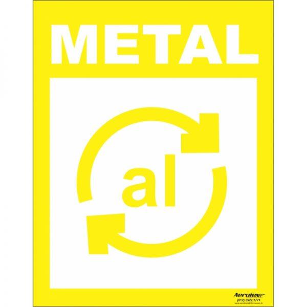 Placa Impressão Digital - Coleta Seletiva Metal 14x19cm - PS034