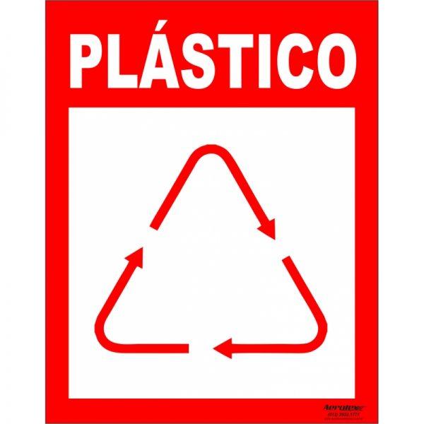 Placa Impressão Digital - Coleta Seletiva Plástico 14x19cm - PS040