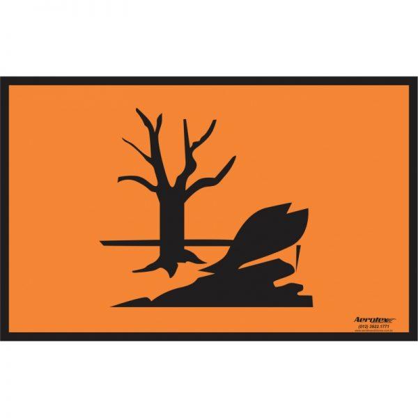 Placa Impressão Digital - Substâncias Perigosas Diversas - Laranja - DESENHO - 30cm x 40cm - PS405