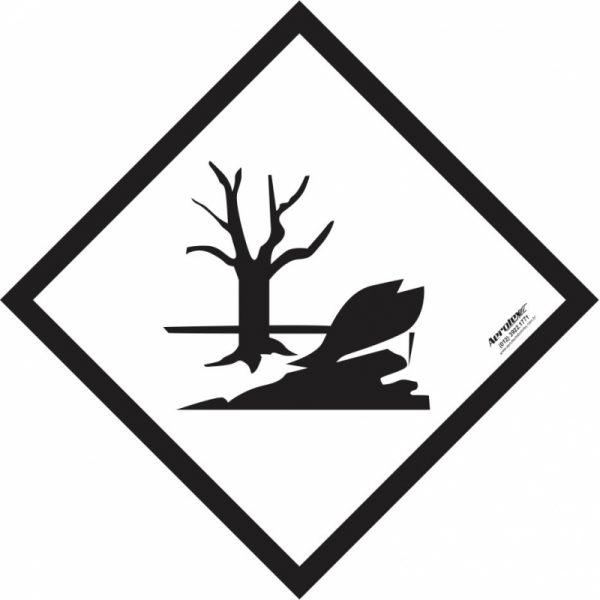 Placa Impressão Digital - Substâncias Perigosas Diversas - Branca e Preta - 30 x 30 cm- PS407