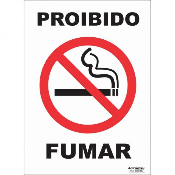 Placa Impressão Digital - Proibido Fumar ( P1 ) - 14cm x 19cm - PS215