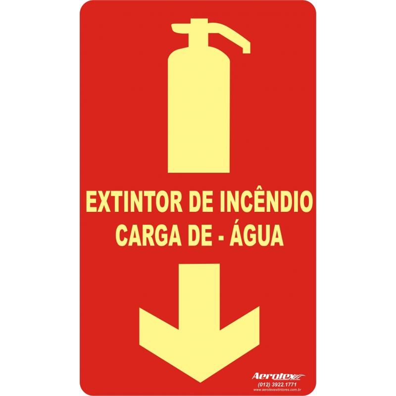Placa Fotoluminescente Extintor de Àgua (AP) - 25x15cm ( E5 ) - PF009