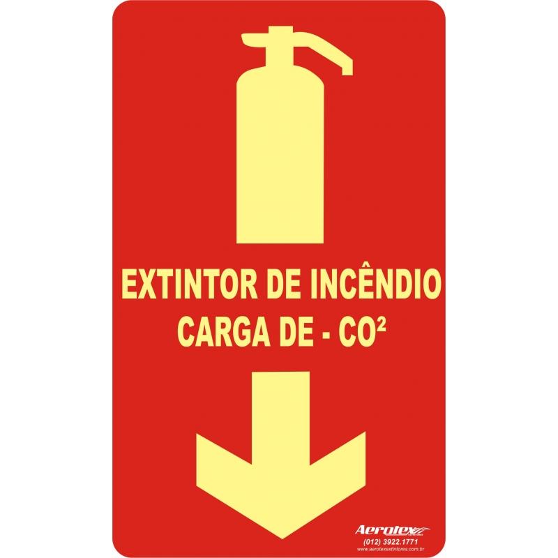 Placa Fotoluminescente Extintor CO2 ( E5 )