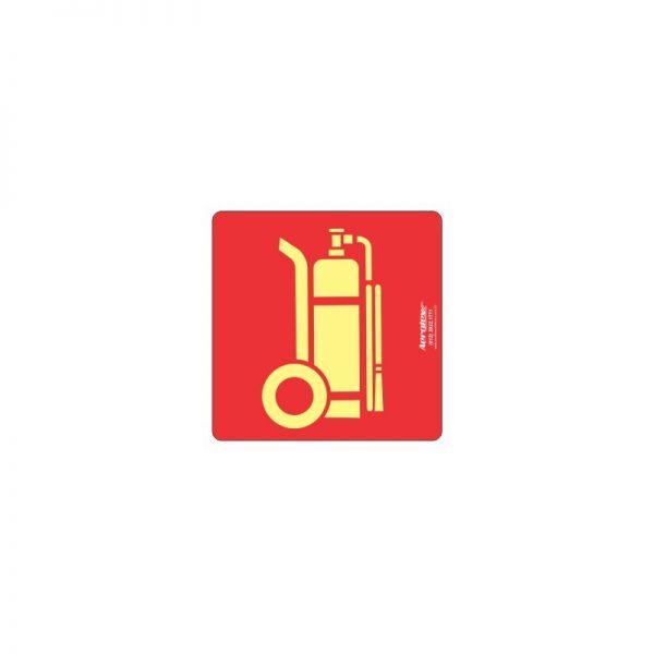 Placa Fotoluminescente Extintor Carreta ( E11 ) 20x20 cm - PF099