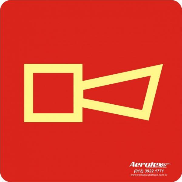 Placa Fotoluminescente Alarme Sonoro ( E1 ) 20x20cm - PF028
