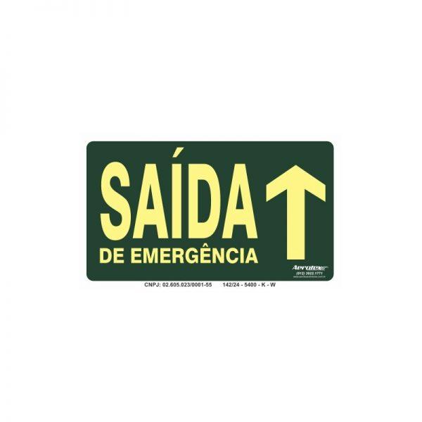 Placa Fotoluminescente Saída de Emergência Siga em Frente ( S22 ) 15x25cm - PF076
