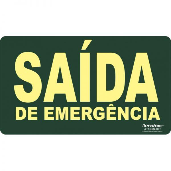 Placa Fotoluminescente Saída de Emergência ( S22 ) - 15x25cm - PF020
