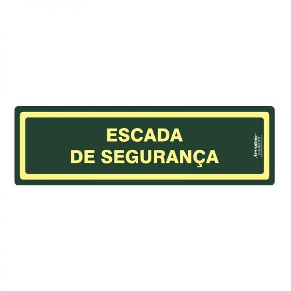 Placa Impressão Digital Escada de Segurança 10 X 30 CM - PF082