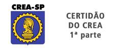 Certificado de Certidão do CREA-SP