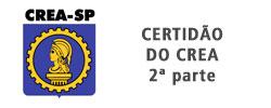 Certidão do CREA Parte 2 Certificado da Aerotex
