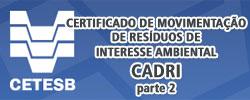 CETESB CADRI Certificado de Movimentação de Resíduos de Interesse Ambiental