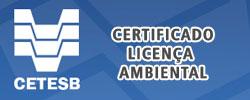 CETESB Certificado de Licença Ambiental