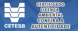 Certificado da CETESB para Licença Ambiental Confira a Autenticidade Aerotex